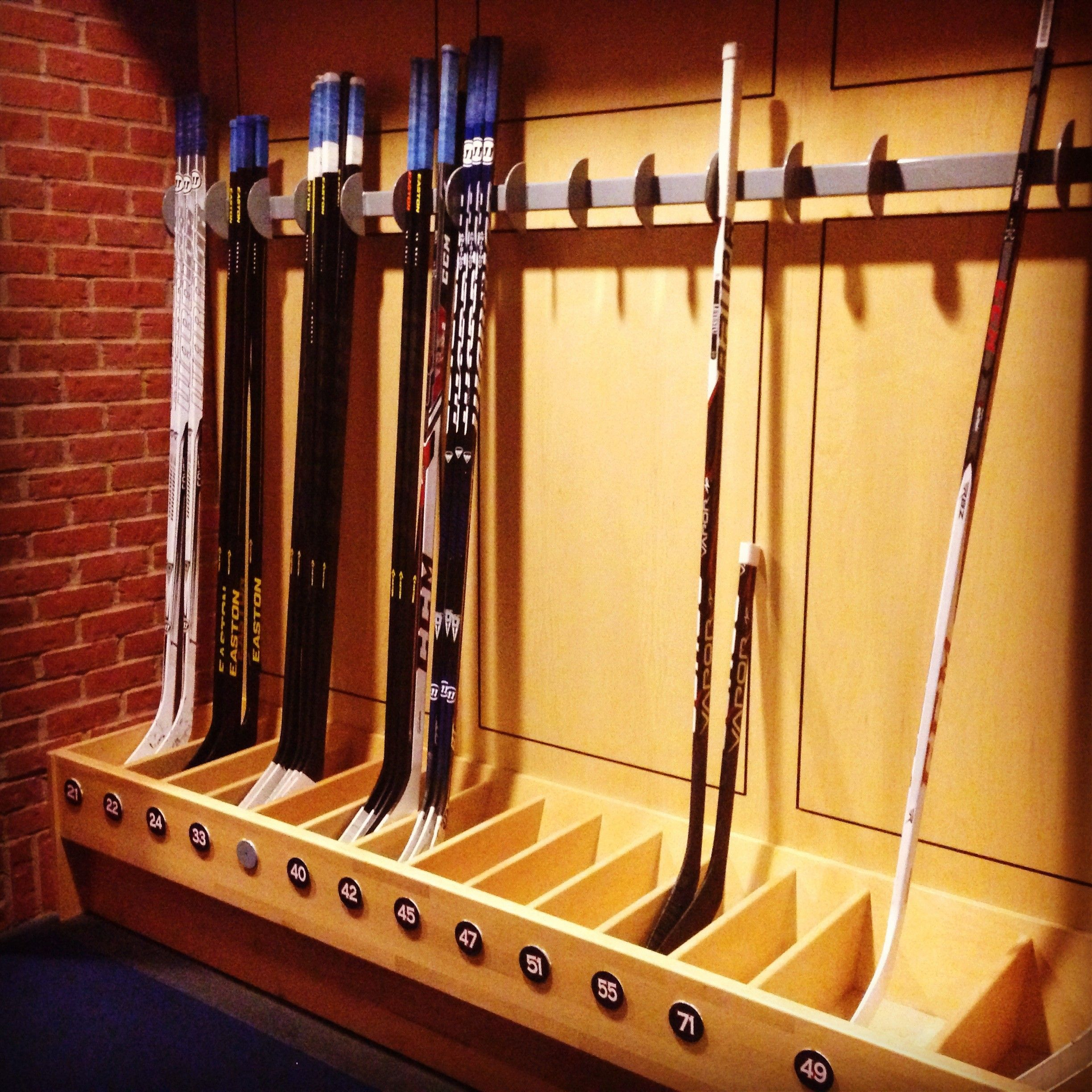 Hockey Stick Trifecta Rack: Columbus Blue Jackets - #CBJAllAccess