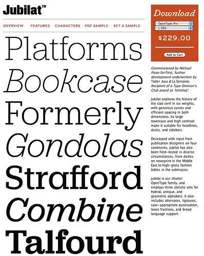 Jubilat Font : yummmy, from Darden Studio | TYPE | Slab serif fonts