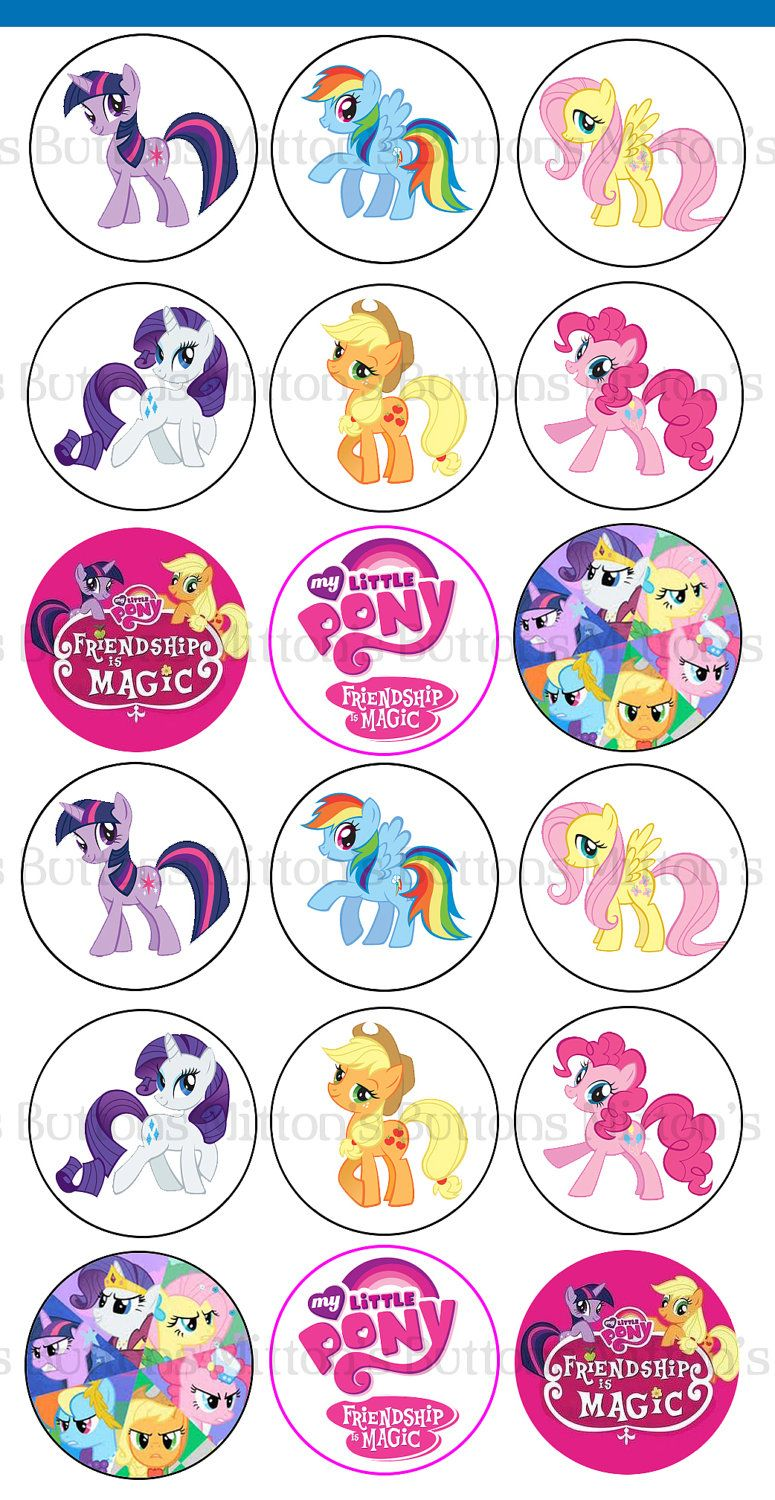 my little pony 1 inch circle printables digital download 190 via etsy