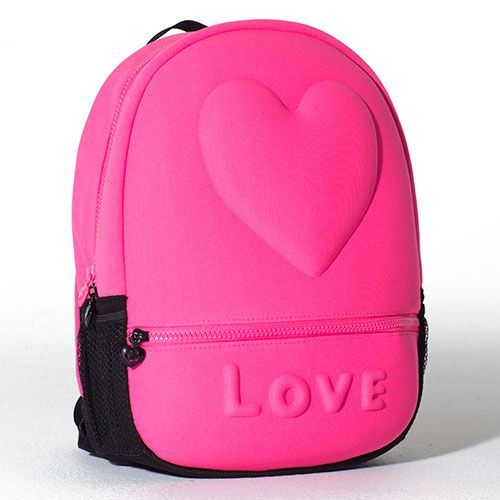 Neon Pink Mini Bubble Backpack   LittleMissMatched