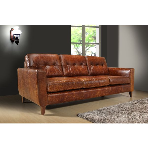 Awesome Austin Vintage Brown Leather 3 seat Sofa Lovely - Fresh 3 seater sofa Modern