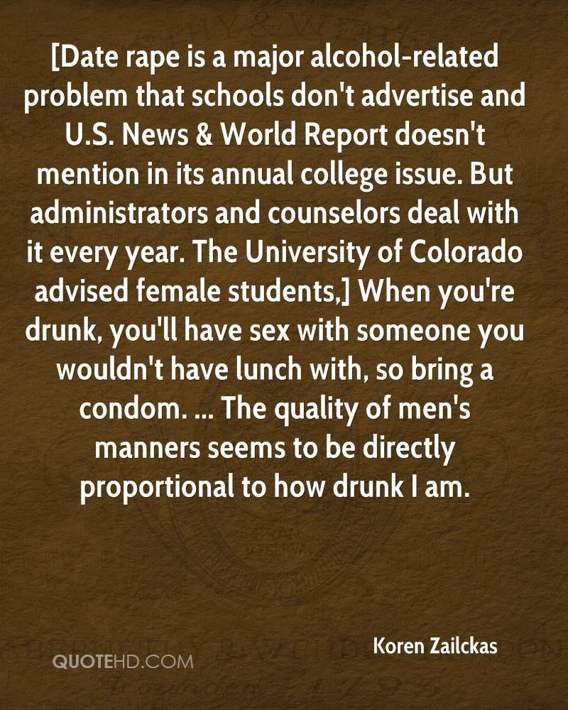 Rape Quotes Magnificent Korenzailckasquotedaterapeisamajoralcoholrelatedproblem
