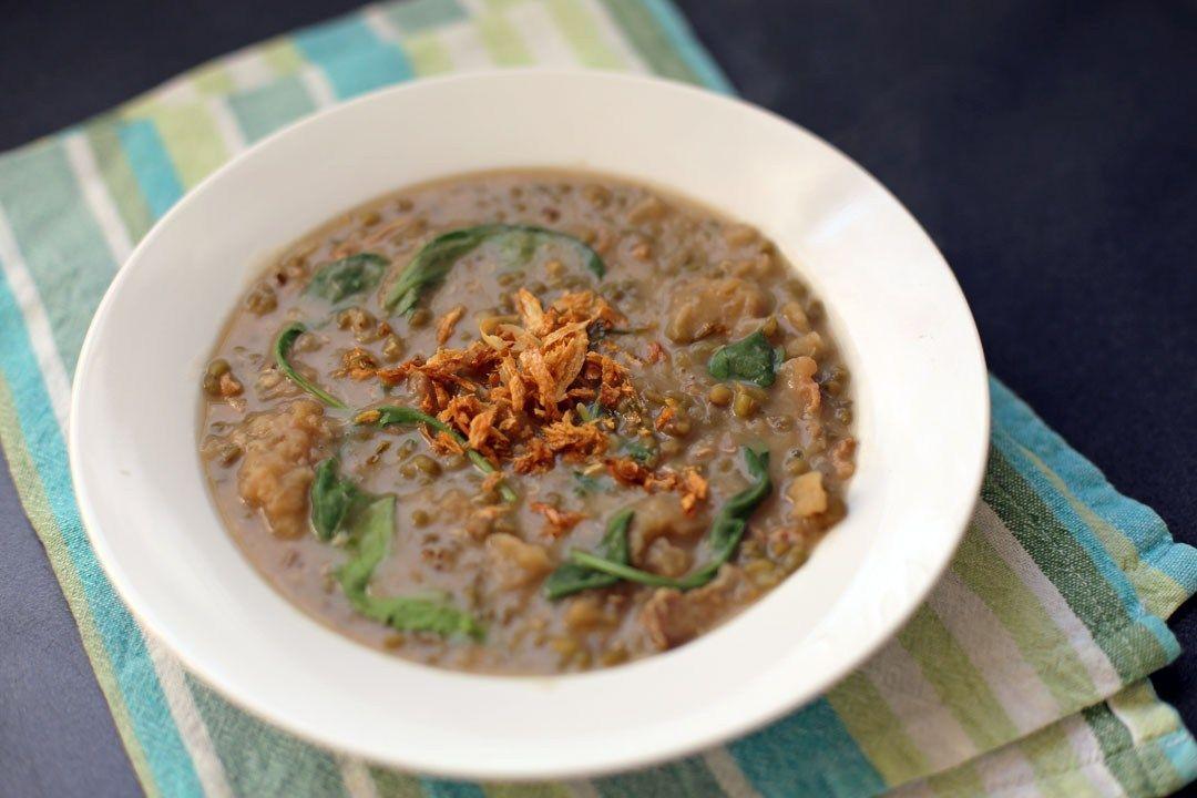 Gisadong munggo with chicharon ang sarap recipe in