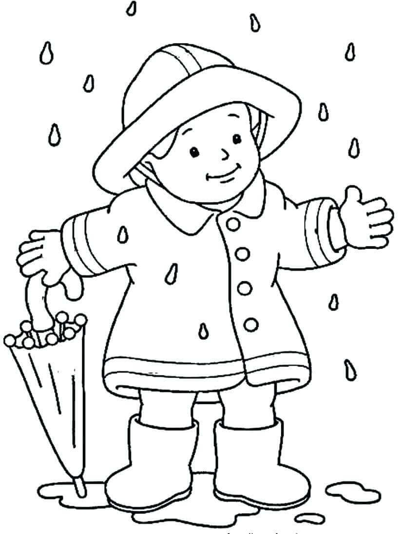 Coloring pages of raining season fall coloring pages