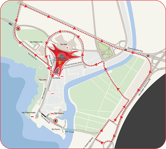 Ferrari World Map.Driving Experience Family Theme Park Ferrari World Abu Dhabi