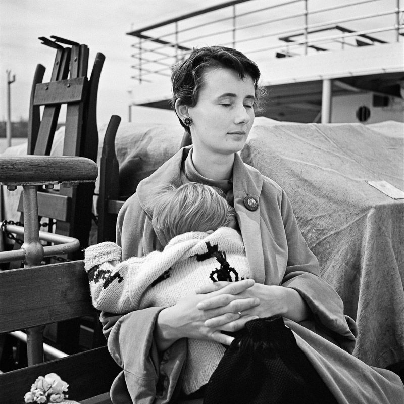 vivian maier - untitled, no date, (woman holding child) / silver ...