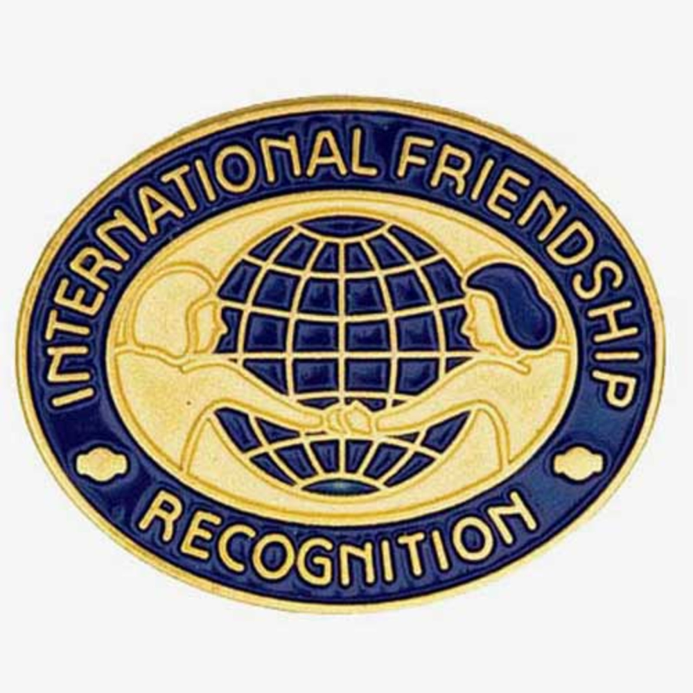 International Friendship Recognition Pin in 2020 Girl