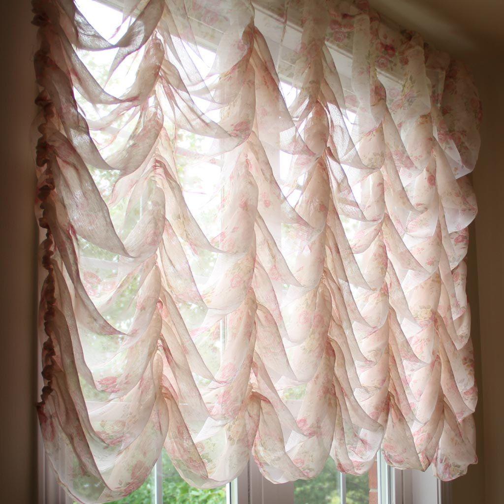Lace Bedroom Curtains Austrian Festoon Brail Roman Waterfall Victorian Balloon Rose Lace