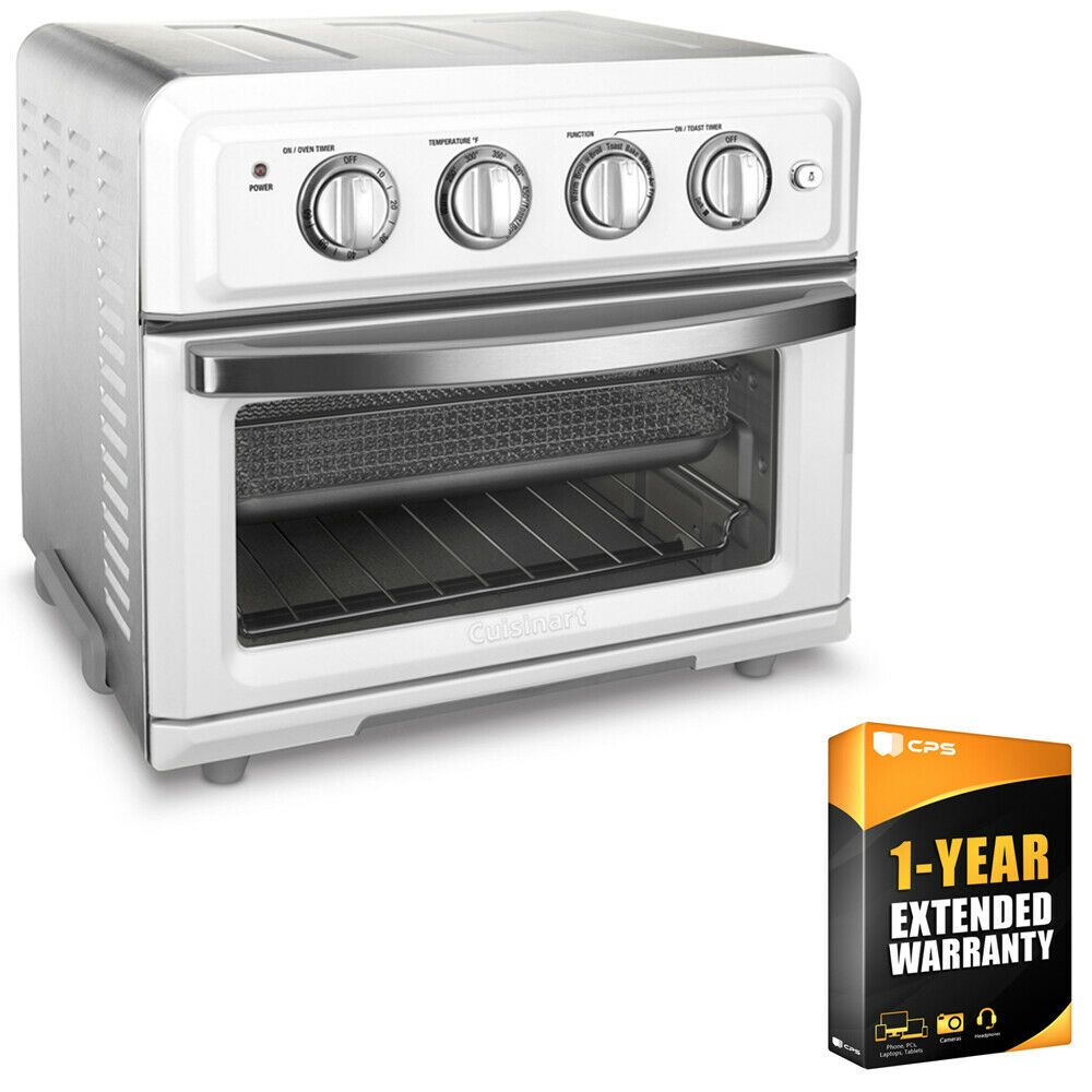 Cuisinart Convection Toaster Oven Air Fryer White 1 Year Extended Warranty Toasters Ideas O In 2020 Convection Toaster Oven Toaster Oven Kitchen Appliances Deals