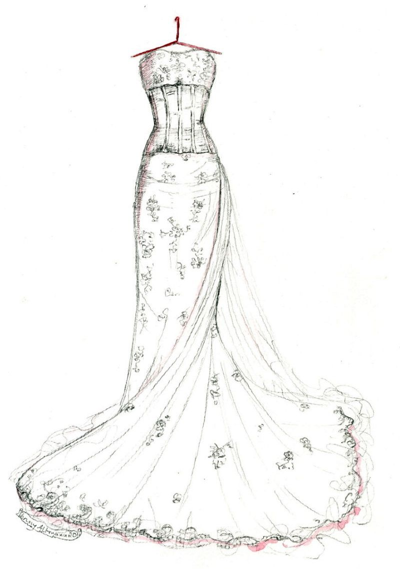 Wedding Dress Coloring Pages Wedding Dress Sketches