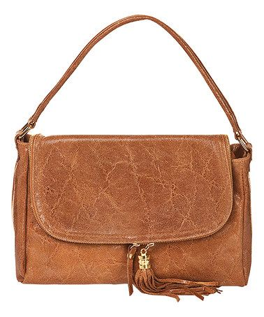 Loving this Brown Distressed Leather Shoulder Bag on #zulily! #zulilyfinds