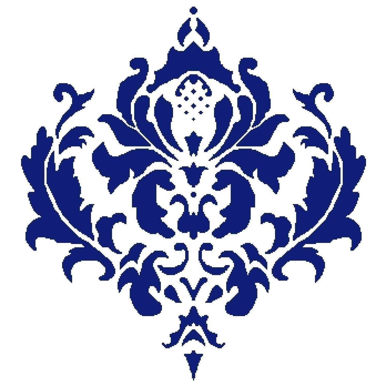 simple damask stencil - HD1500×1500