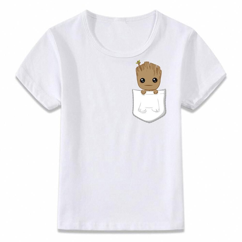 575615b1dd7 Kids Clothes T Shirt Pocket Baby Groot Guardians of The Galaxy Children T- shirt for Boys and Girls Toddler Shirts