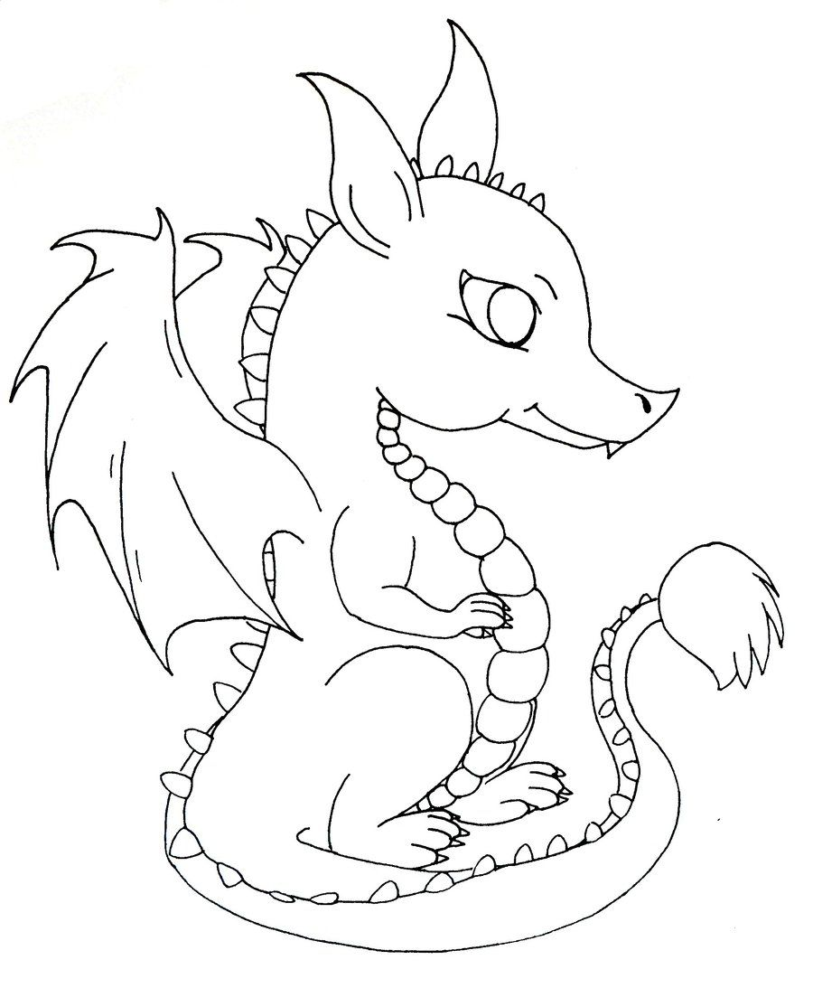 Baby Dragon Dragon Coloring Page Cute Dragons Cute Coloring Pages