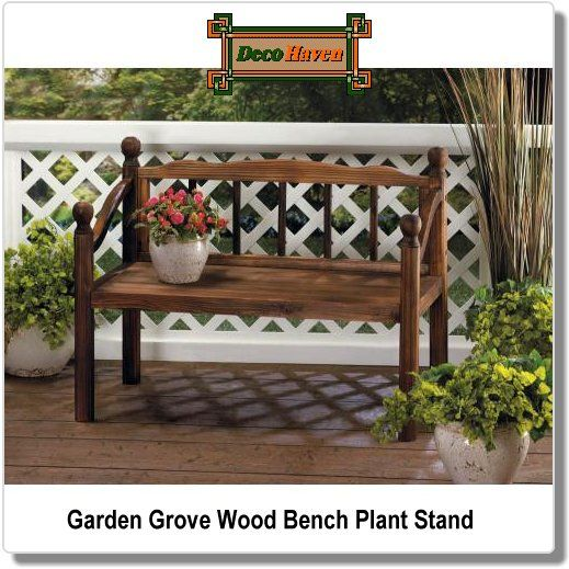 Fine Garden Grove Wood Bench Plant Stand Plants And Planters 1 Caraccident5 Cool Chair Designs And Ideas Caraccident5Info