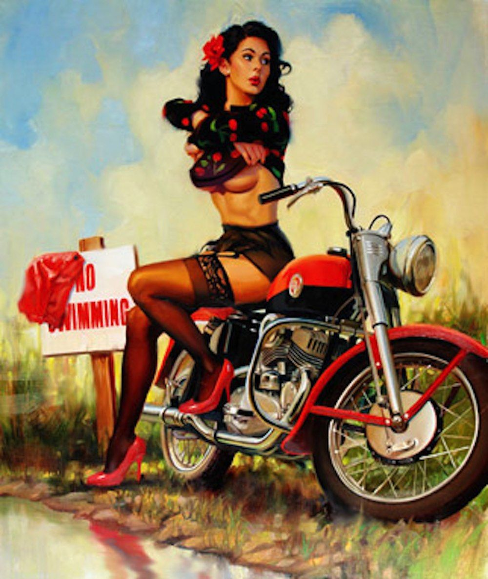 Chopper pin up girls uhl fine art master and official harley chopper pin up girls uhl fine art master and official harley davidson motorcycle artist freerunsca Images