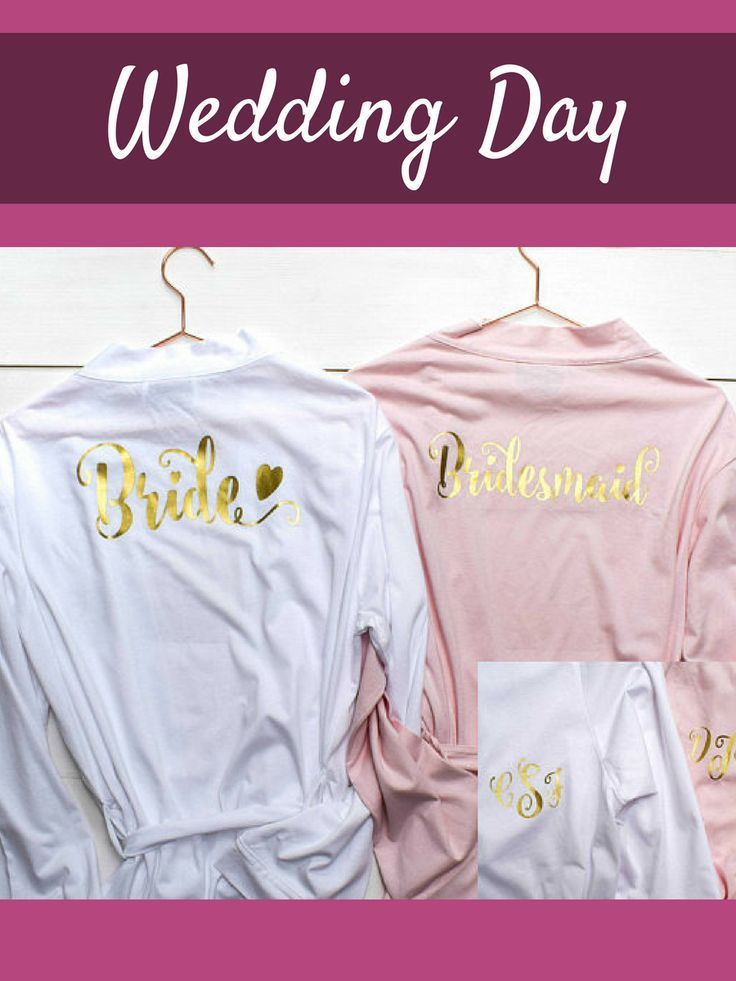 Personalised Bridal Robes - Wedding Dressing Gowns - Hen Party ...