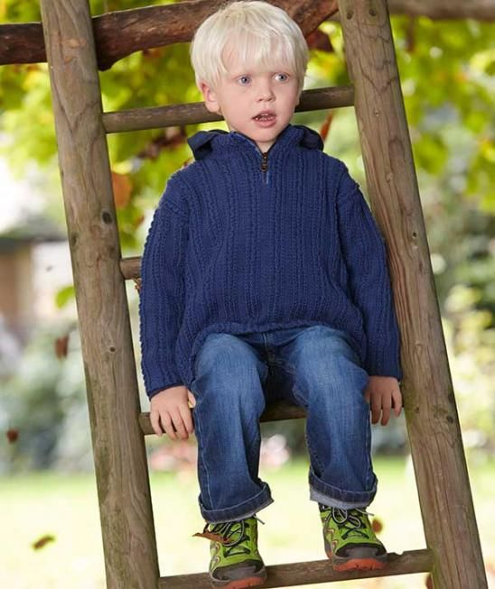 Child\'s Pullover in Troyer-Style, S9052 - Free Pattern | Knitting ...