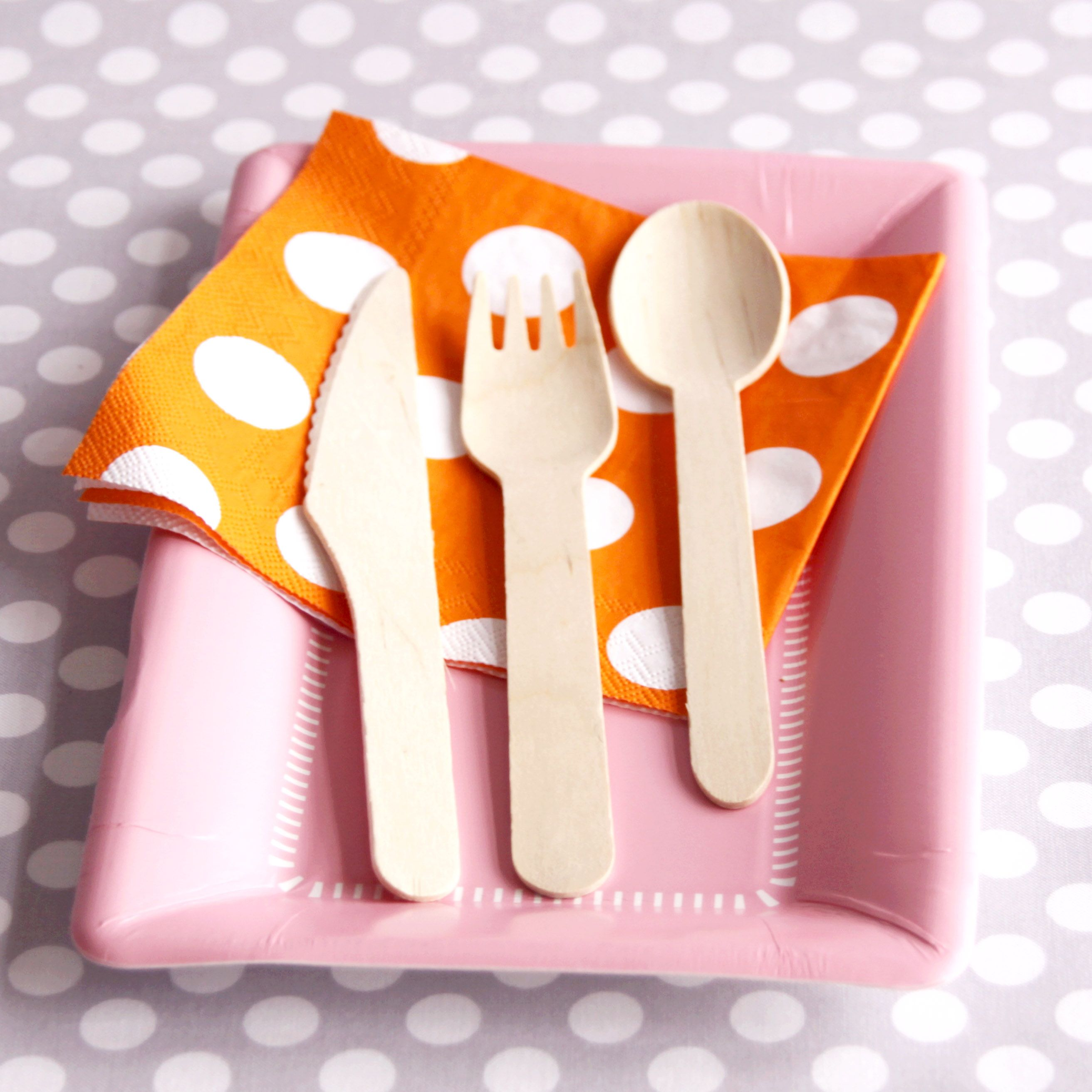 Wooden Utensils could be cute embellished with red rhinestones or little strawberries