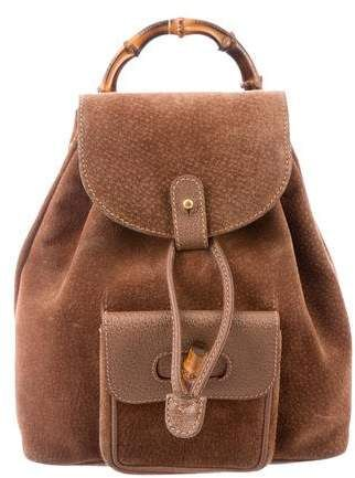 a00cce88d9f1 Gucci Vintage Mini Bamboo Backpack