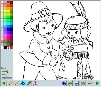Online Coloring App Or You Can Print And Color Each Picture Thanksgiving Coloring Pages Online Coloring Cool Coloring Pages
