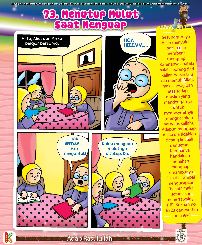 Komik Adab Menutup Mulut Saat Menguap Komik Anak Buku Komik Literasi