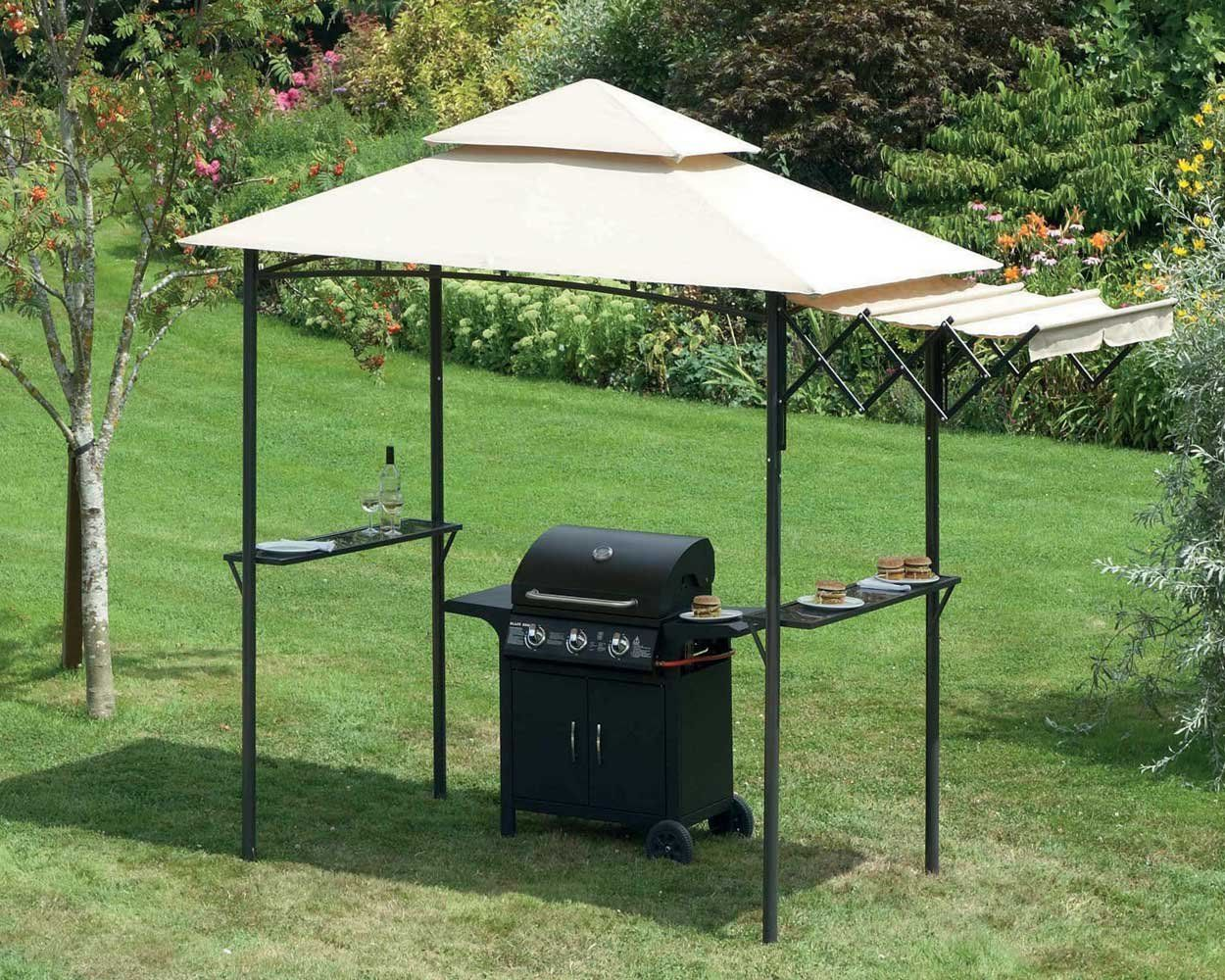 side garden with wooden cuckooland shelter awning leisure designs table edge fsc bbq broxton gazebo zest certified