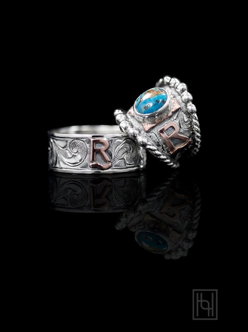 make it a rimrock™ a turquoise wedding ring for the country lovin