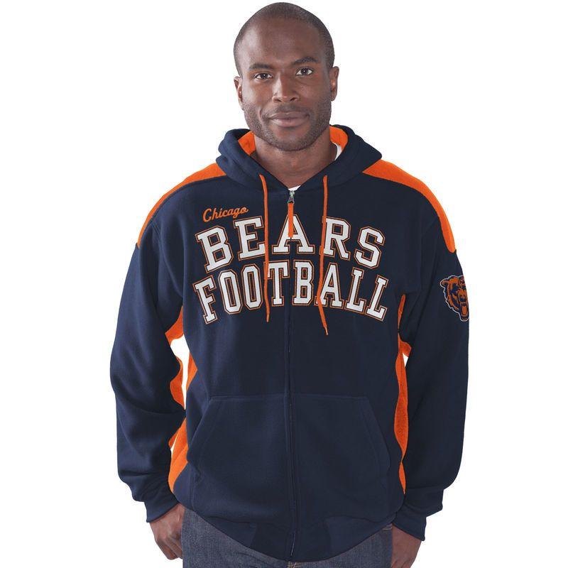 Chicago Bears G-III Sports by Carl Banks Snap Shot Polar Fleece Full-Zip  Hoodie - Navy f2d94ff2b