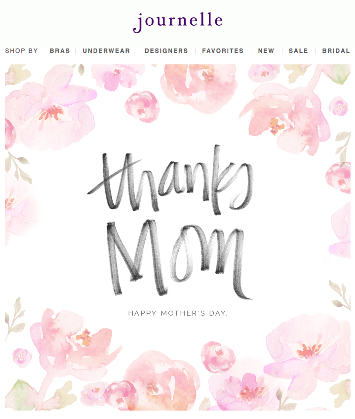 Journelle mothers day email design inspiration pinterest journelle mothers day m4hsunfo