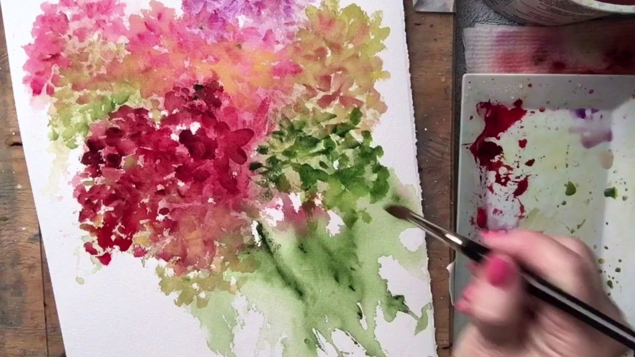 Hydrangea Loose Watercolor Demonstration Youtube Watercolor