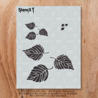 1099 Leaves Stencils To Paint T Shirt For Wall Decor