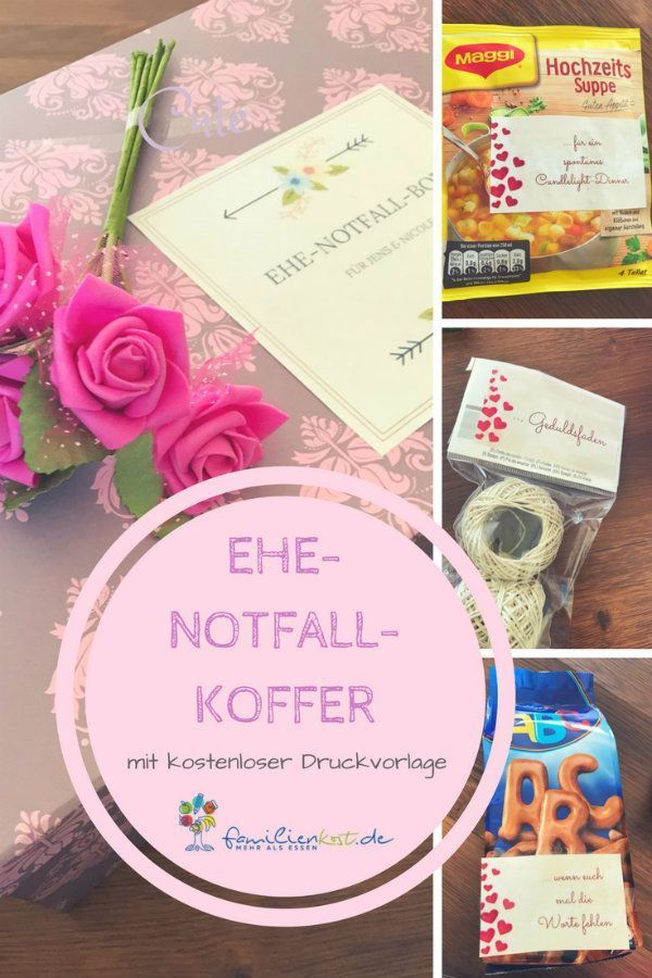 Photo of Ehenotfallkoffer Hochzeitsgeschenk (inkl. Druckvorlage)