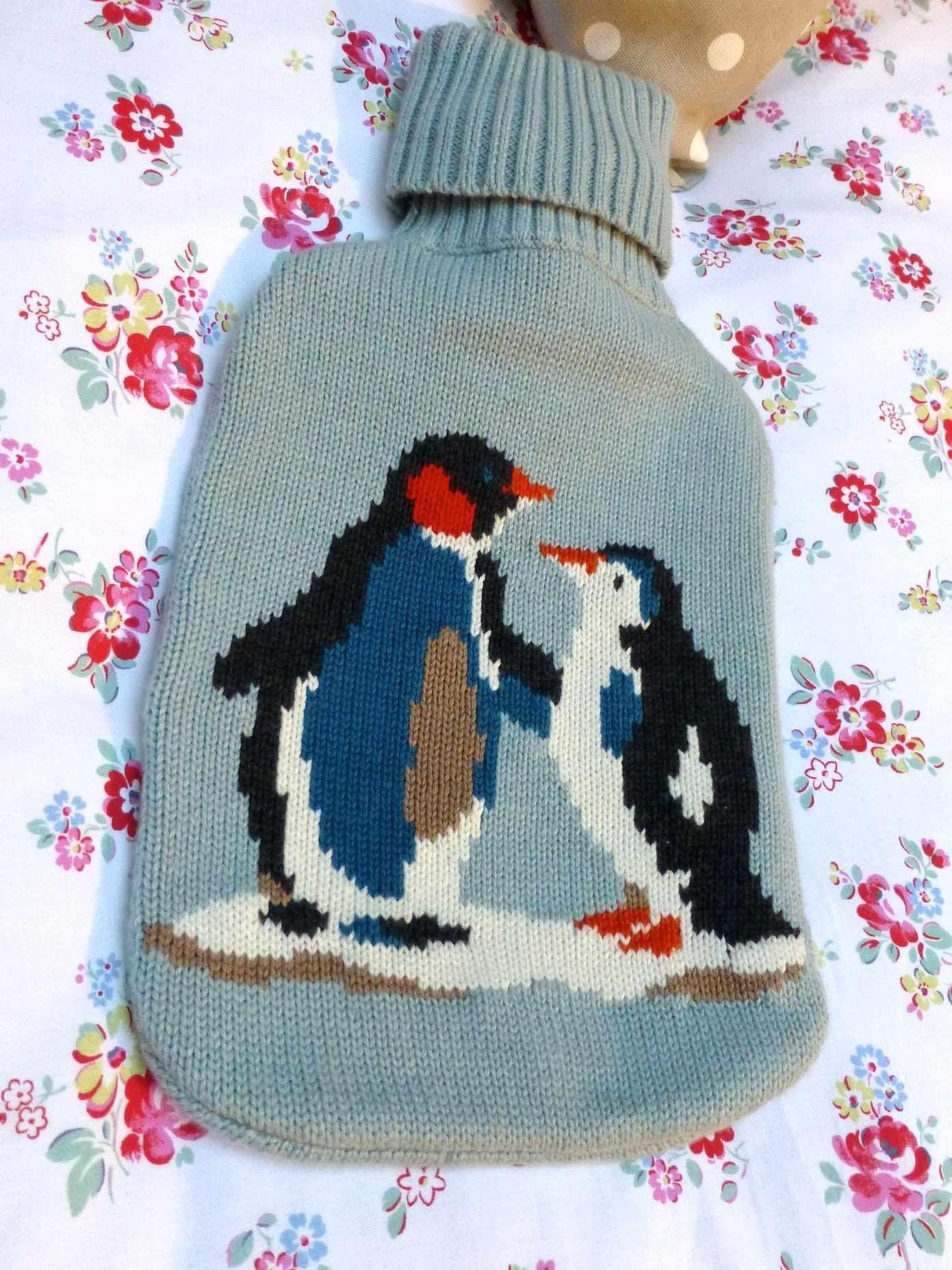 felt penguin pattern - Google Search | Knitted water bottles ...