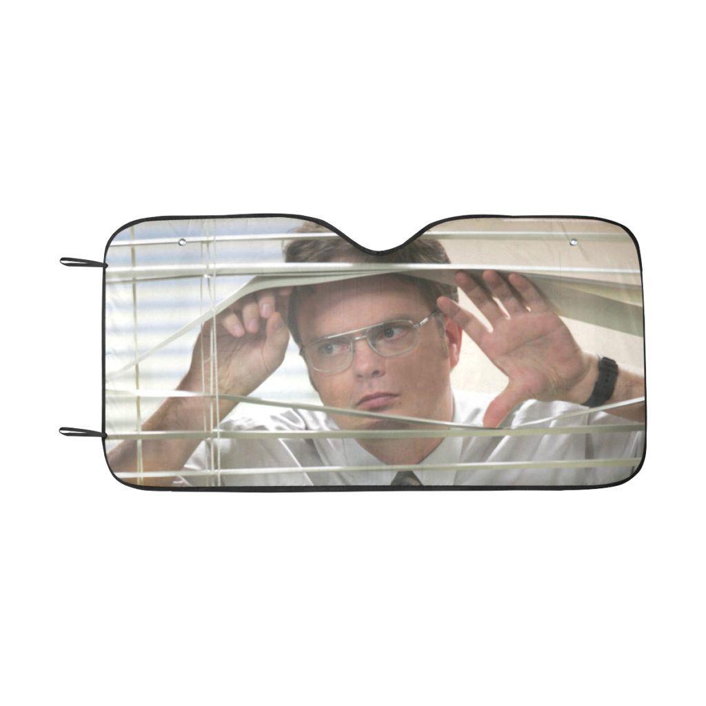 The Office Dwight Blinds Car Sunshade Onyx Prints The Office Dwight The Office Car Sun Shade