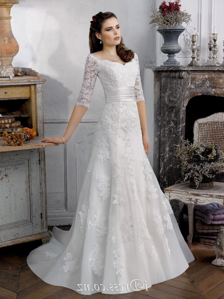 A line wedding dress with sleeves naf dresses wedding dresses