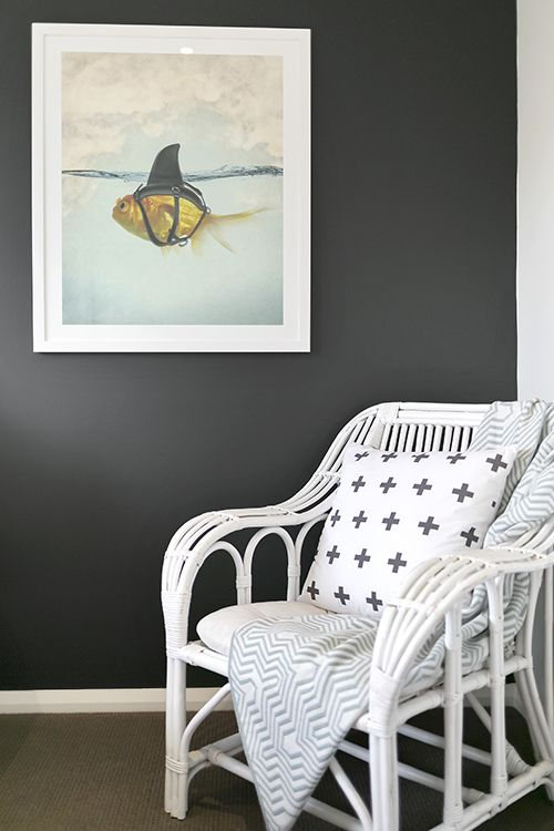 Statement Art, Black And White, Cane Chair, Occasional Chair, Throw Rug,