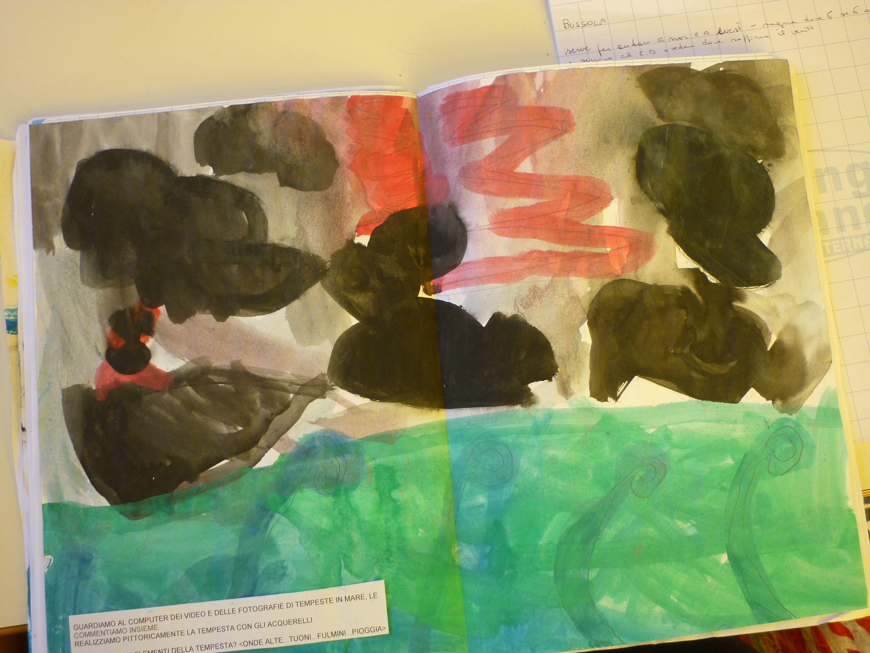 Acquerelli Bambini ~ Ouverture lolandese volante di r.wagner la tempesta acquerello