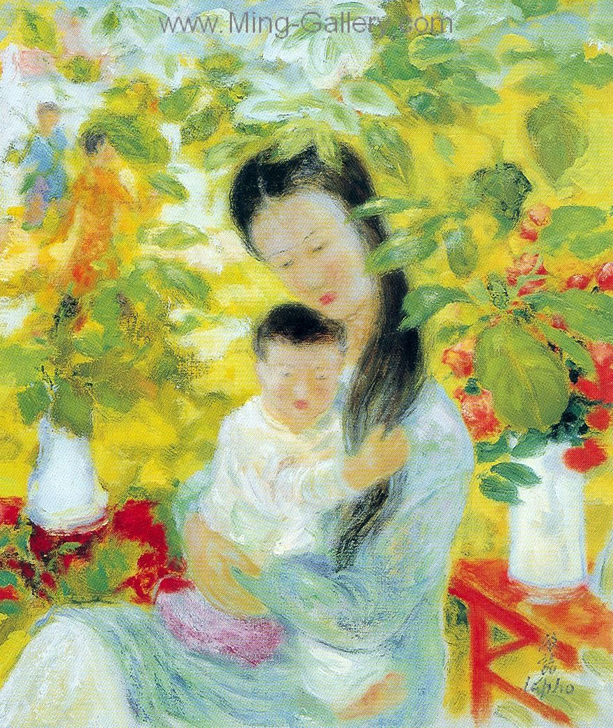 Vnl0006 Le Pho Vietnamese Art Painting Impressionist Paintings Artist