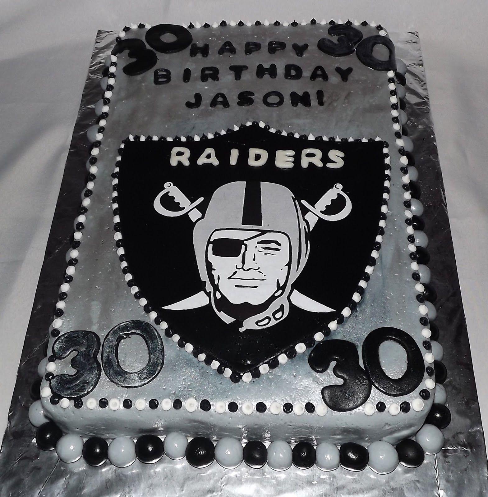 Mandy S Cakes Raiders Football Cake