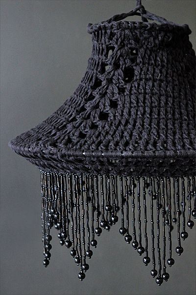 The Beautiful Black Crochet Cotton Lampshade Is Perfect If You Re