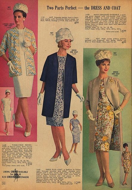 1964 Fashion | 17 Best images about Fashion ~ 1960-1964 on Pinterest ...