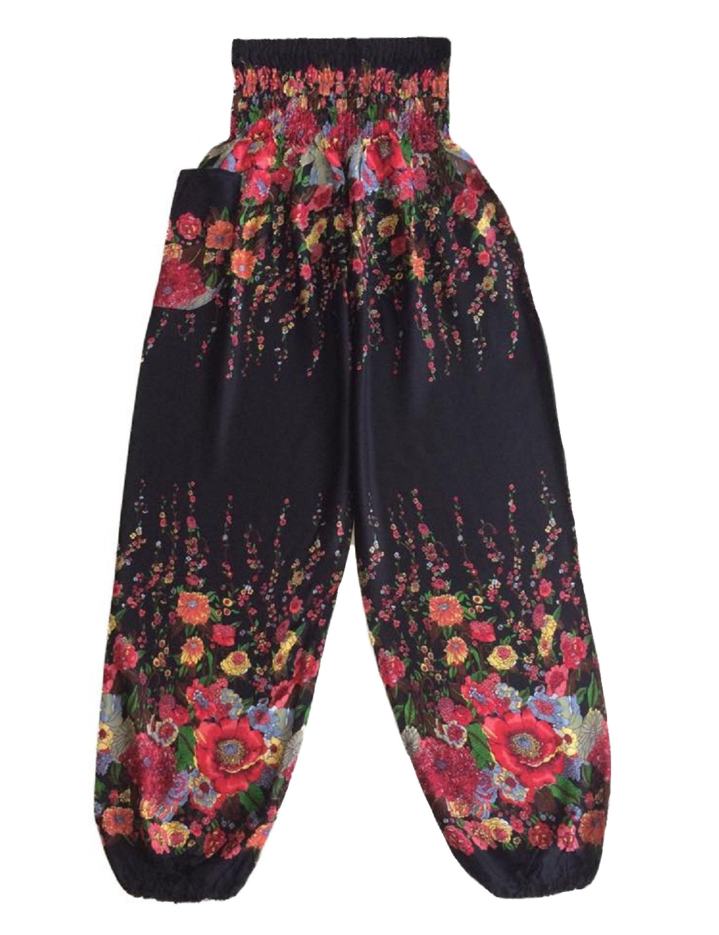 01ef9308734fe Plus Size Flower Baggy Harem Pants