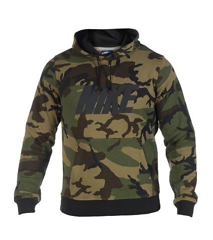 d6c9b9e529b618 NIKE Camouflage pullover hoodie Long sleeves Stretch material for ultimate  comfort Soft inner fleece Single kangaroo front pocket NIKE logo on front