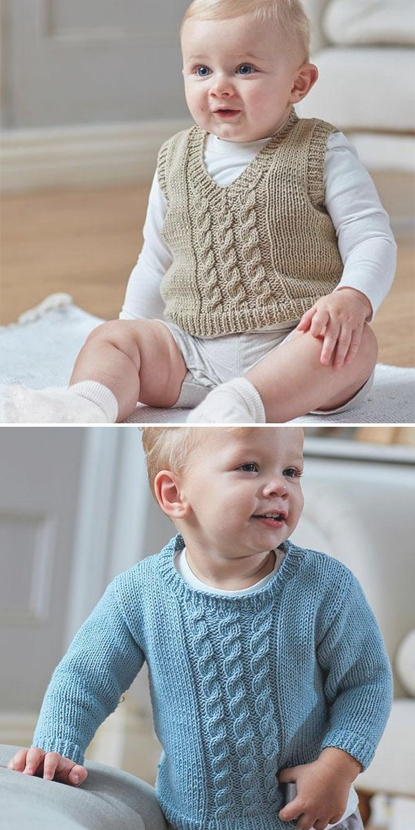 Vests for Babies and Children Knitting Patterns   -  Baby Knitting Patterns #babysweater #babysweaterpatterns #babysweaterknitpattern #sba Vests for Babies and Children Knitting Patterns   –  Baby Knitting Patterns #bab…