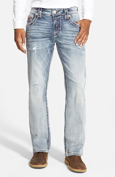Rock Revival Straight Leg Jeans (Caiden) available at #Nordstrom