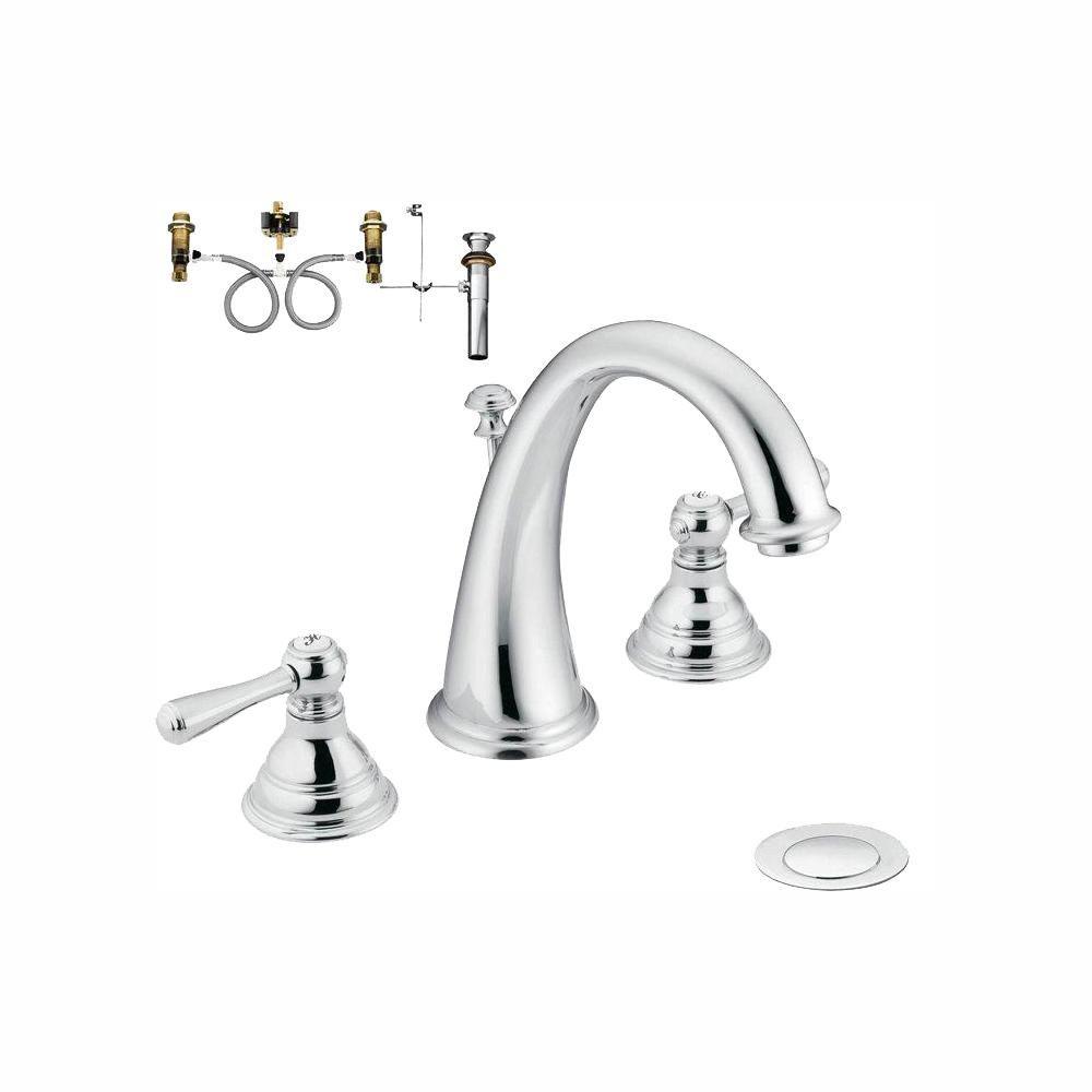 Moen Kingsley 8 In Widespread 2 Handle High Arc Bathroom Faucet