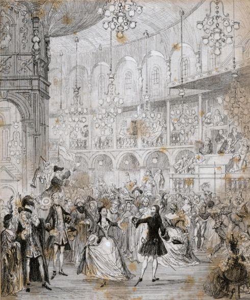 Ranelagh Gardens Gala Night By Cruikshank 18th Century London