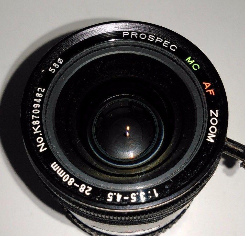 Vintage Prospec Camera Lens Mc Af Zoom 1 3 5 4 5 28 80mm No K8709482 Minolta Ebay Vintage Camera Lens Understanding Camera Lenses Camera Lens