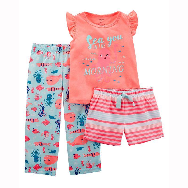 4bb057a21b29 Carter s 3 Piece Pajama Set - Preschool Girls